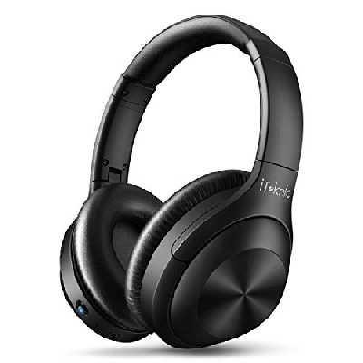 Casque Bluetooth sans Fil, iTeknic Casque Bluetooth Réduction de Bruit Active ANC Casque Audio Supra Auriculaire Stéréo Pliable Micro Intégré Casque Anti Bruit Over Ear Compatible avec iPhone Android