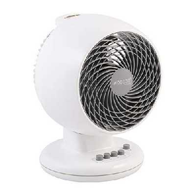 Iris Ohyama - Ventilateur puissant et silencieux avec oscillation - Woozoo PCF-M18 Blanc - 23 m², 25 x 22,8 x 33,5 cm