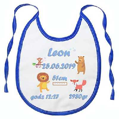 Personnalisé avec nom ou texte Bavoir pour bébé Fille ou garçon Serviette pour Enfants Étanche Parfait pour un cadeau renard [096]