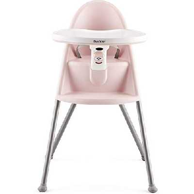 BABYBJÖRN Chaise Haute, Rose pastel/Gris