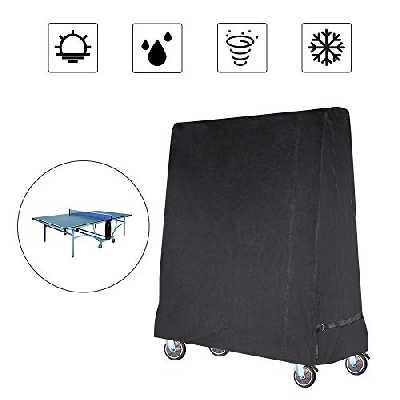 Gurkkst Premium Table Tennis Cover Couverture de Table de ping-Pong imperméable pour Noir intérieur et extérieur