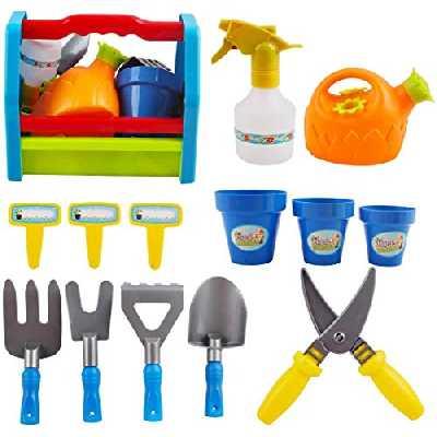 deAO 14 Outils de Jardin pour Enfant Kit Outils de Jardinage pour Enfants