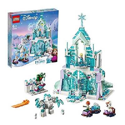 LEGO 43172 Disney Princess Le Palais des Glaces Magique d'Elsa, Ensemble de Construction avec Mini-poupées Princesse Elsa et Anna