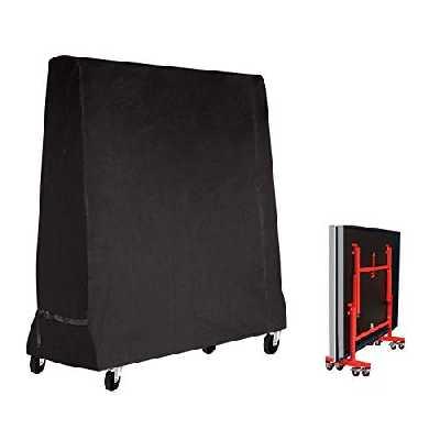 Mutsitaz Table de Tennis de Table Housse Imperméable Couverture pour Table de ping Pong 165 x 70 x 185 cm Noir