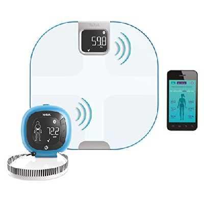 TEFAL Body Partner Pèse Personne Balance Connectée Compatible Health Kit Google Fit - Coaching Sportif Et Nutritionnel Intégré YD3094S1