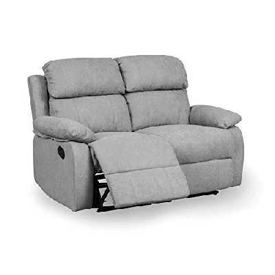 DecoInParis Canapé Relax 2 Places en Tissu Keaton (Gris)