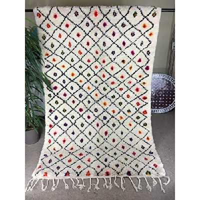 Tapis marocain tapis berbere Tapis azilal fait a main tapis laine pure 230x130 cm