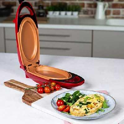 NOVABEL Poêle a Omelette - Plaque de Cuisson électrique portable -Poêle omelette deux plaques Revêtement antiadhésif.