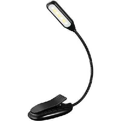 TOPELEK Lampe de Lecture Lampe Liseuse 7 LED, 3 Modes de Température de Couleur et 3 Niveaux de Luminosité Réglables, Rechargeable Travail 60H, Portable pour Livre, eReaders, Nuit, Voyage