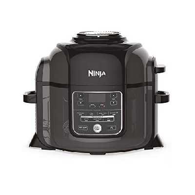 Ninja Foodi [OP300EU] Multicuiseur 7-en-1, Technologie TenderCrisp, 6 L, 1460W, Noir et Gris (touches et commandes en anglais)