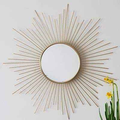 AUDACE DECO Miroir Soleil - Miroir Mural - en métal doré - Or