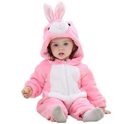 MICHLEY BéBé Grenouillères Animal Pyjama Combinaison Barboteuse Enfant Filles Costume Lapin 31-36 Mois