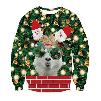 NEWISTAR Unisexe Pulls de Noël pour Homme Femme Ugly Christmas Sweater Pulls Noël Tricoté Doux