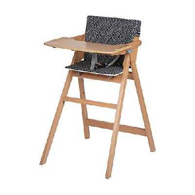 Safety 1st Nordik Chaise Haute Bébé Pliable en Bois avec Coussin de 6 mois à 3 ans, Geometric