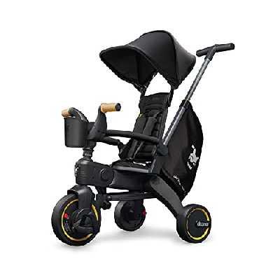 Doona Tricycle Liki Trike S5 véhicule Enfant, Nitro Black / Noir