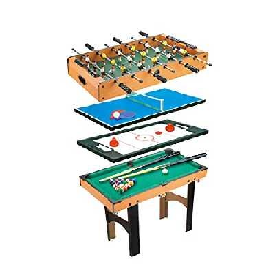 Calma Dragon Table Pliable Multijeux 4 en 1 Billard, Ping Pong, Hockey et Football de Table pour Toute la Famille