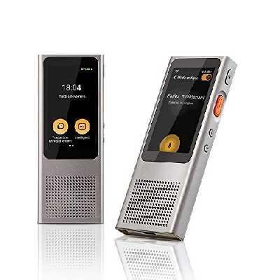 Langogo Minutes Wi-Fi Traducteur Vocal Instantané, Enregistreur de Transcription Parole-à-Texte, 108 Langues(104 en Ligne & 4 Hors Ligne), Contenu de Transcription Exportable, Gris