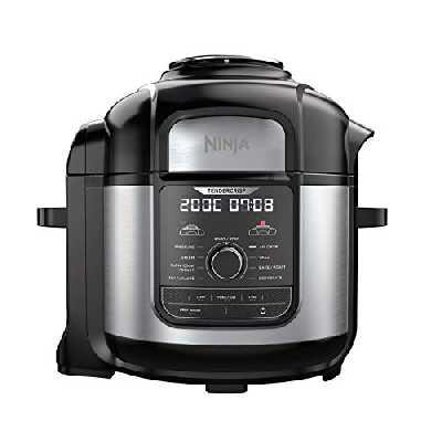Ninja Foodi MAX [OP500EU] Multicuiseur 9-en-1, Technologie TenderCrisp, 7,5 L, 1760W, Noir (touches et commandes du produit en anglais)