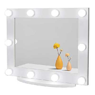 Waneway Mirroir Hollywood Vanity avec lumières, Grand Miroir de Maquillage éclairé pour Le Dressing et la Chambre à Coucher, Miroir cosmétique éclairé pour la Coiffeuse, Montage sur Table ou Mural