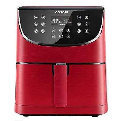 COSORI Friteuse sans Huile à Air Chaude 5,5L, Air Fryer avec 11 Programmes, Fonction de Maintien au Chaud & Préchauffage, LED Écran Tactile Minuterie Température Réglable,100 Recettes, sans BPA 1700W