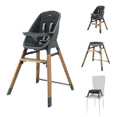 Chaise haute évolutive MADY 4 en 1 - design et confort - Migo (gris)