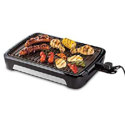 George Foreman Barbecue Grill sans Fumée Intérieur Extérieur, Plaques Amovibles - 25850-56