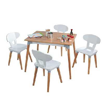 KidKraft Ensemble Table et 4 chaises rétro pour Enfants et Tout-Petits
