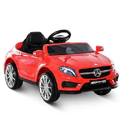 HOMCOM Voiture véhicule électrique Enfant 6 V 3 Km/h Max. télécommande Effets sonores + Lumineux Mercedes GLA AMG Rouge