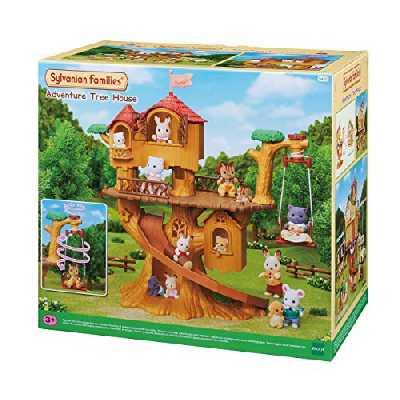 Sylvanian Families - Les Vacances - La Cabane Dans Les Arbres - 5494 - Maison de Poupée - Mini Poupées