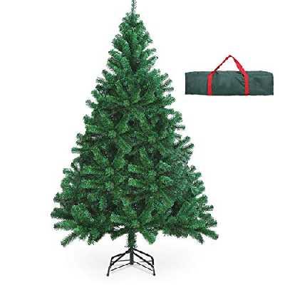 OUSFOT Sapin de Noël Artificiel 180cm Décoration de Fête 800 Branches Arbre de Noël pour Noël