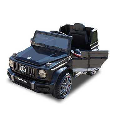 RIRICAR Voiture électrique pour Enfants Mercedes G Neu 2020 Model, Noir avec télécommande 2,4 GHz, Batterie 12V - 4AH, Portes ouvrantes