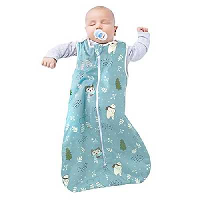 Viedouce Gigoteuse pour Bébé,Bio Coton Gigoteuse Naissance, Gigoteuse Fille et Garçon,Longueur 80cm pour Bébé de 3 à 18 Mois (2.5 TOG)