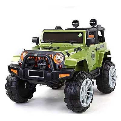 ATAA Bigfoot 4X4 - Vert- Voiture électrique pour Enfants 12v avec télécommande pour Parents