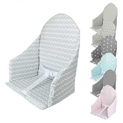 Monsieur Bébé ® Coussin d'assise universel Miam avec harnais pour chaise haute bébé - 7 coloris - Norme CE