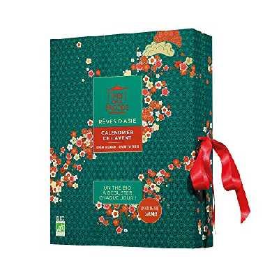 Thés de la Pagode - Calendrier de l'Avent Thés et Infusions - Attendez Noël avec Gourmandise - Collection Rêves d'Asie - 24 Infusettes