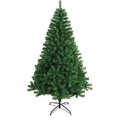 Arbre de Noël Artificiel Guirlande de Feuilles de Sapin de Noël 150-240cm avec Support Métallique (Vert, 150cm 390Tips)