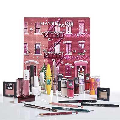 Maybelline New-York - Calendrier de l'Avent 2020 - Coffret de 24 Produits de Maquillage