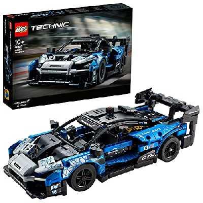 LEGO 42123 Technic McLarenSennaGTR Modèle de Collection de Voiture de Sport de Course, Jeu de Construction de véhicule