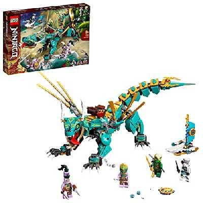 LEGO 71746 Ninjago Le Dragon de la Jungle avec Les Minifigurines Ninja Lloyd et Zane, Enfant de 8 Ans et
