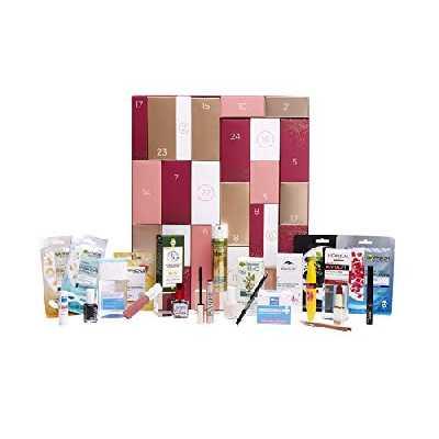 L'Oréal - Calendrier de l'Avent 2020 - Découverte Multi-Marques - 24 Best-Sellers Full Size Soin de la Peau et Maquillage pour Noël