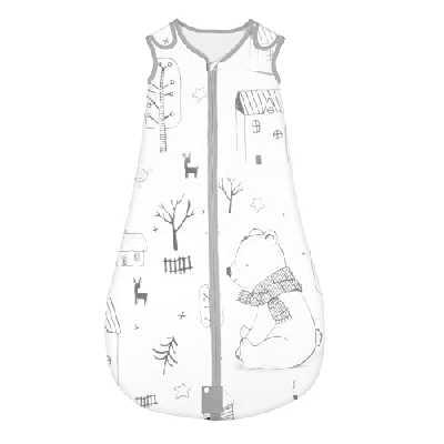 Yoofoss Sac de couchage pour bébé 100% coton Sac de couchage pour tout-petit Couverture portable Motif animal avec longueur réglable 50-100 cm pour bébé de 0 à 36 mois (Forêt, M (6-18 month))