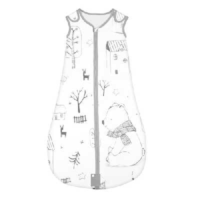 Yoofoss Sac de couchage pour bébé 100% coton Sac de couchage pour tout-petit Couverture portable Motif animal avec longueur réglable 50-100 cm pour bébé de 0 à 36 mois (Forêt, L (18-36month))