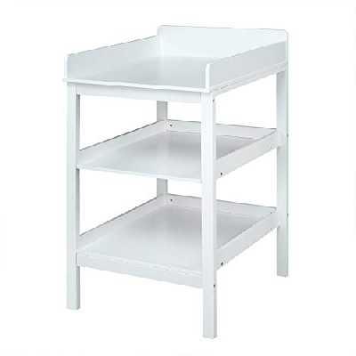 WOLTU WT001 Table à Langer Meuble à Langer pour bébé en MDF avec 3 étagère,Blanc