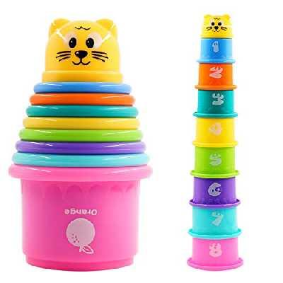 PHYLES Jouet Cubes Empilables bébés, Tasses à Empile bébés, Gobelets Gigognes Jouets éducatifs Enfant Jouet Premier Age Jeux Educatif pour bébés