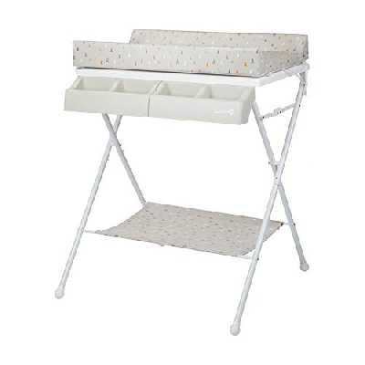 Safety 1st Baltic 2 en 1, table à langer pliable, convient de la naissance à 12 mois, Warm Grey