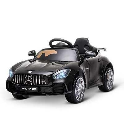 HOMCOM Voiture véhicule électrique Enfants 12 V - V. Max. 5 Km/h Effets sonores, Lumineux, télécommande Mercedes-AMG GT R Noir