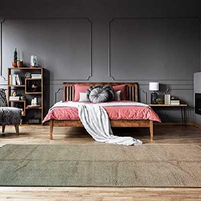 Tapis Style Berbère 195x420 cm Rectangulaire Beni OUARAIN AG Beige Grand Salon Noué Main