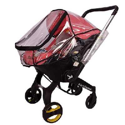 Housse de pluie pour siège auto pour bébé Doona, Protection contre la pluie pour poussette Doona, EVA Transparent Bébé protection contre les intempéries, Accessoire de siège de voiture ventilé