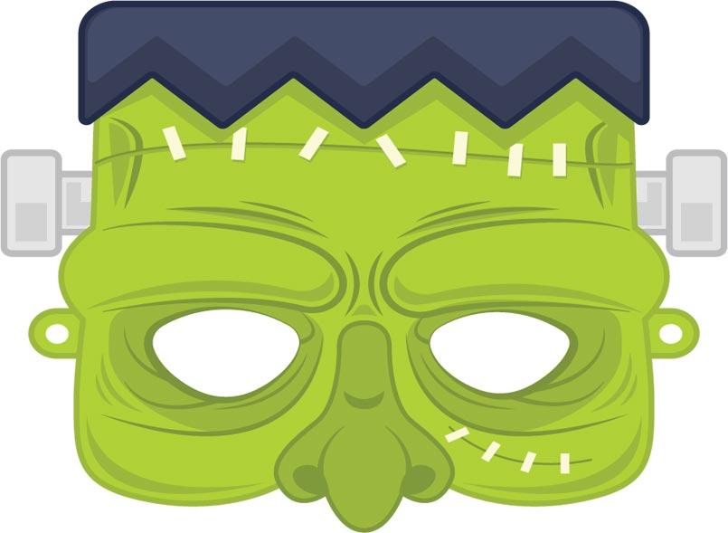masque halloween zombie