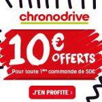 Chronodrive : 10€ offert pour toute 1ère commande de 50€